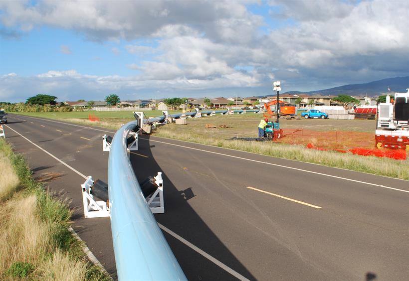 25 inch underwater waterline crossing project